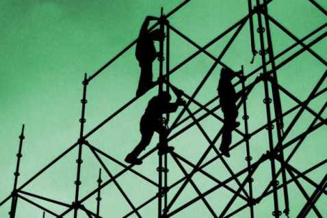 silhouette-people-building-scaffolding
